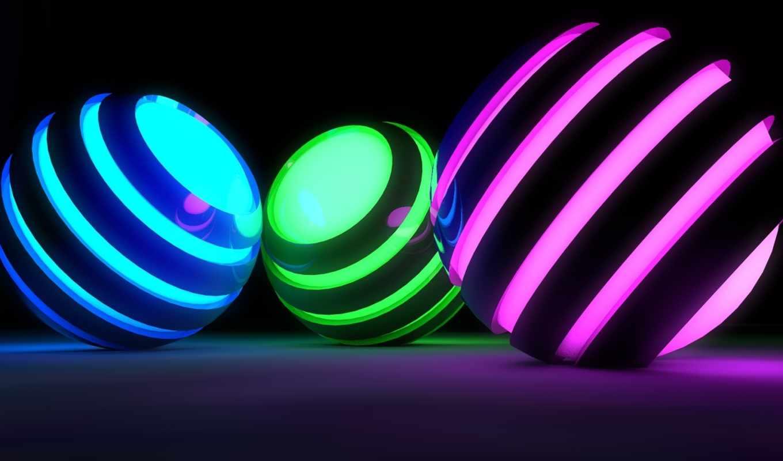 сфера, шар, графика, рендеринг, spheres, полоски,