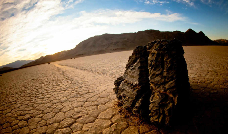 движущиеся, смерть, долина, racetrack, playa, скалы,