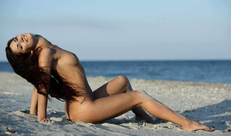 devushki, пляж, девушка, голые, ножки, песок, эротический, тело, красивые, brunette,