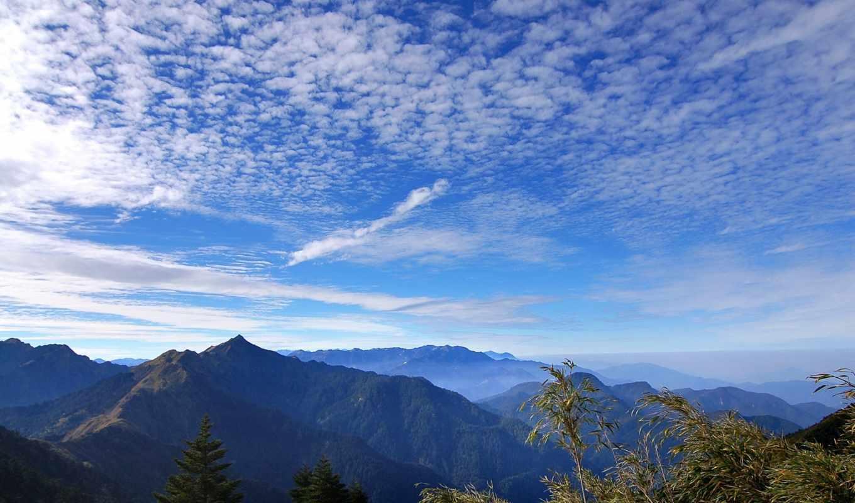 freedom, горы, дек, небо, голубое, oblaka, вид,