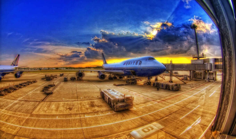 hdr, airport, самолёт, небо, тарифы, oblaka,
