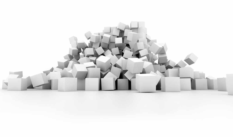 white, cubes,