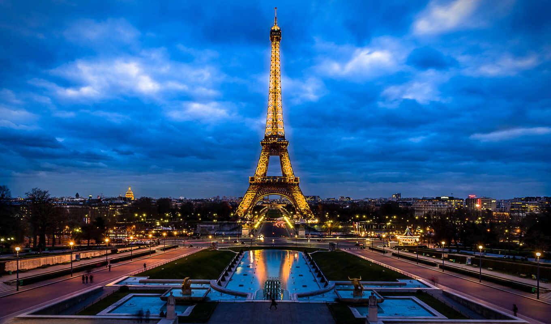 париж, turret, эйфелева, франция, und, башня, eiffel,