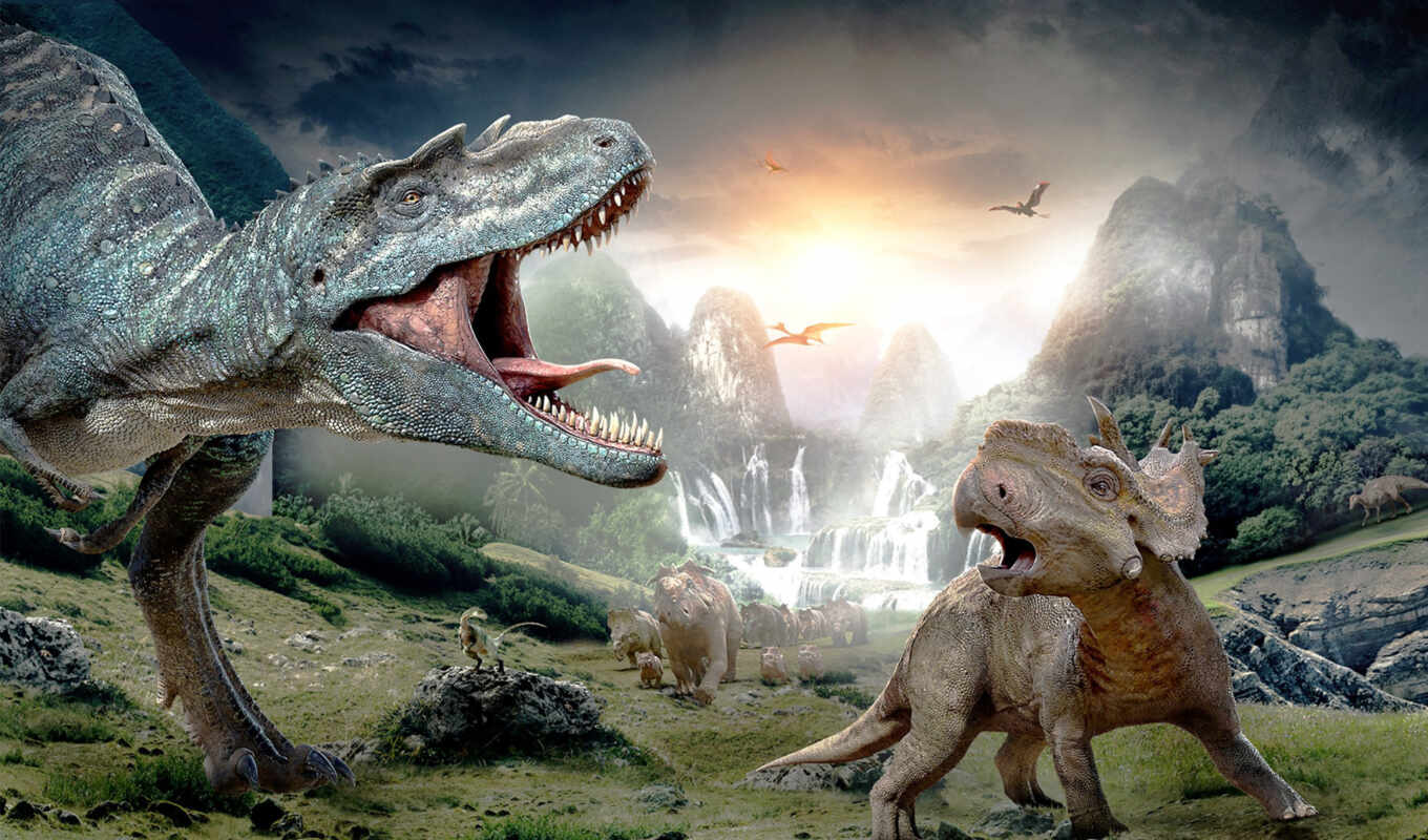 dinosaurs, выгул, movie, that,
