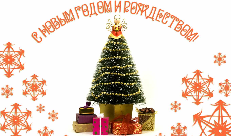 christmas, with, trees, decorated, новогодние, часть, годом, новым, картинка, light, od, картинку, januara,
