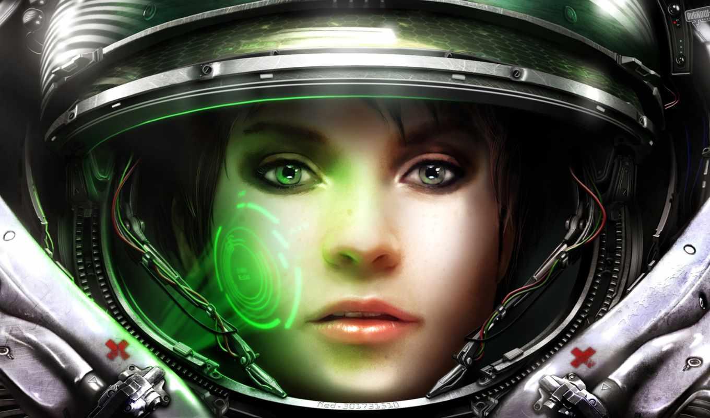 starcraft, medic, boxxy, terran, игры, девушка,