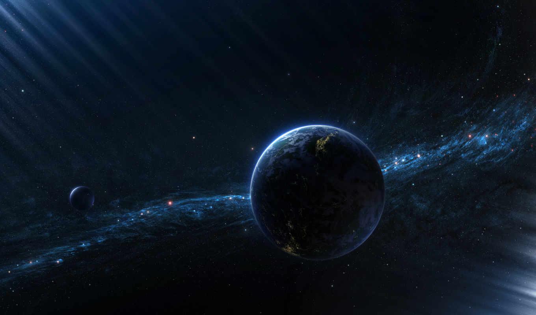 обои, космос, галактика, планеты, другая, свет, зв
