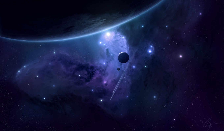 galaxy, неизведанной, галактике, кликните, stars, планеты, planet, космос, desktop, planets, descargar, bild,