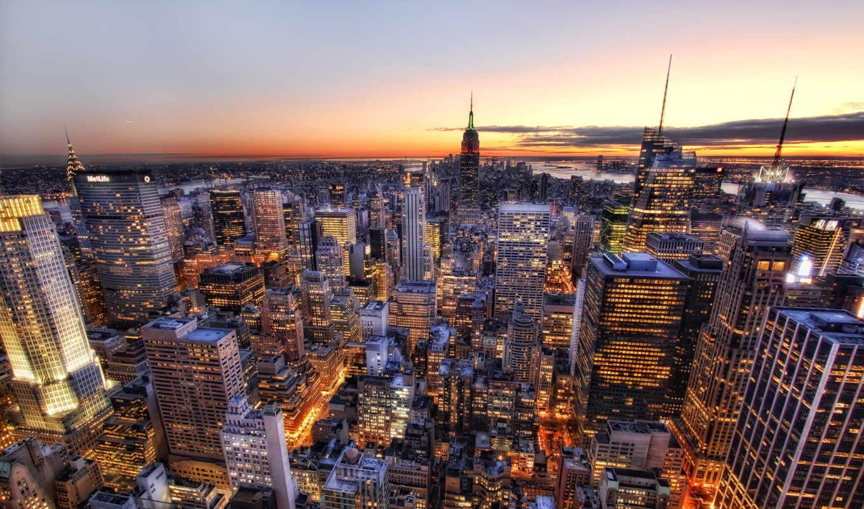 educa, new, york, закат, manhattan, puzzle, пазл, над, деталей, манхеттоном, см,
