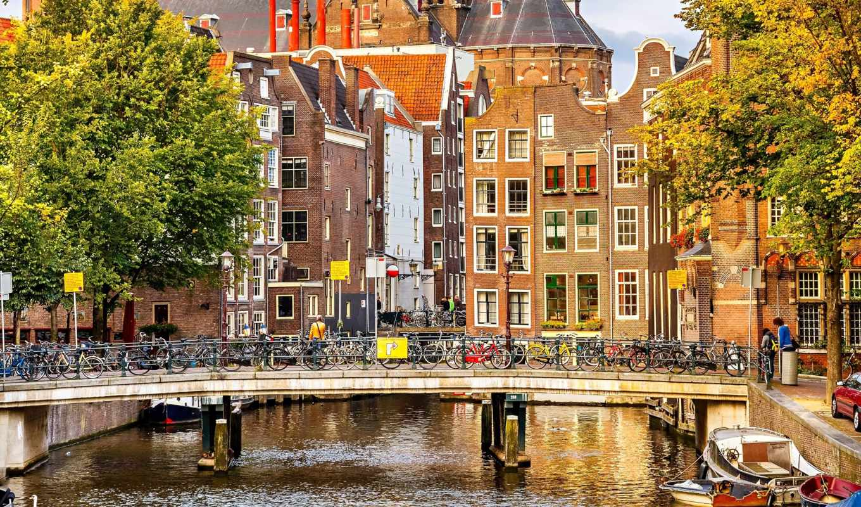 amsterdam, нидерланды, nederland, дома, картинка,