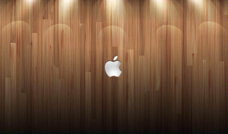 apple, древесина, лого, подсветка, блеск