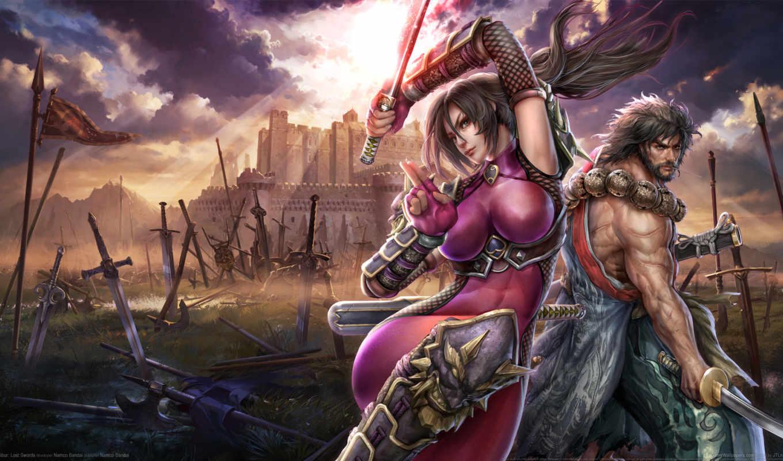 lost, swords, soul, calibur, soulcalibur, девушка, картинка, ninja, play, free, game,