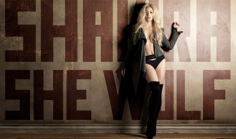 shakira, блондинка, стена, сапоги, she, wolf, promo, desktop, смотрите,