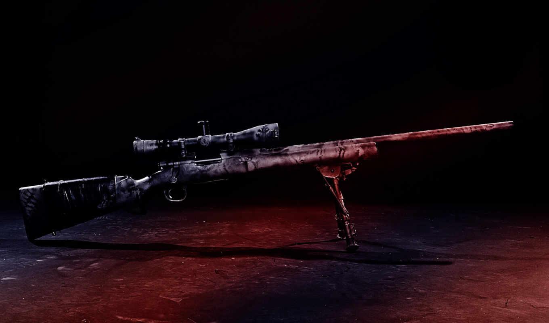 картинка, оружие, угроза, винтовка, снайперская, картинку, кнопкой, прицел, мыши, правой,