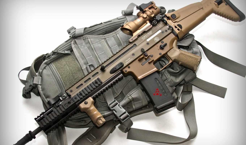 оружие, автомат, штурмовая винтовка, оптический прицел, глушитель, Scar, FN Herstal, планка Пикаттини
