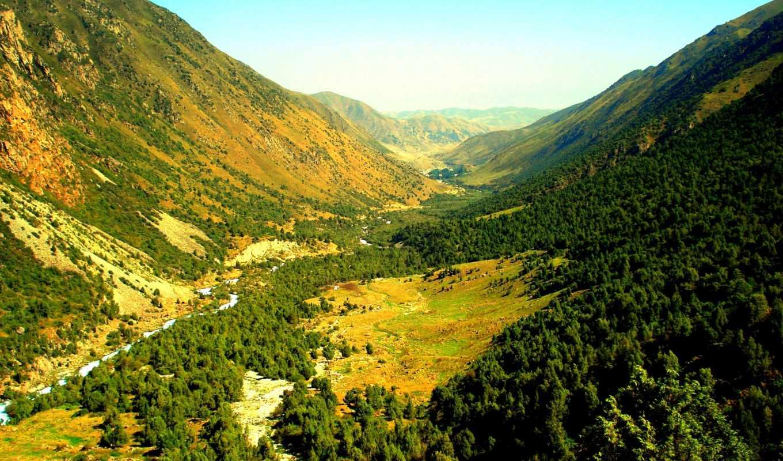 природа, горы, красивая, янв,