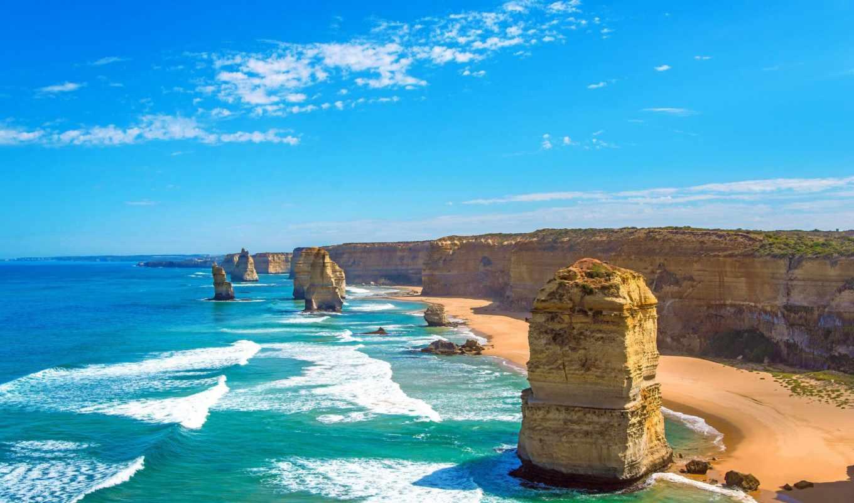 австралия, австралии, apostles, красавица, пейзажи -, природы, природа, туры, апостолов, rocks,