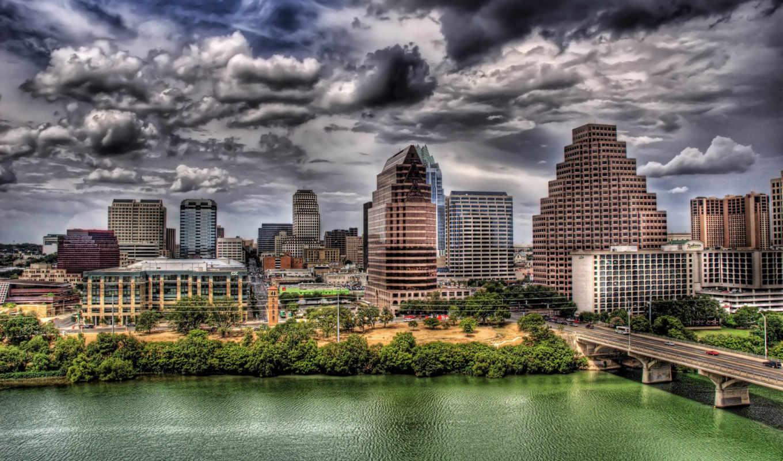 city, города, река, мост, картинка, мира,, фабрика, картинок,