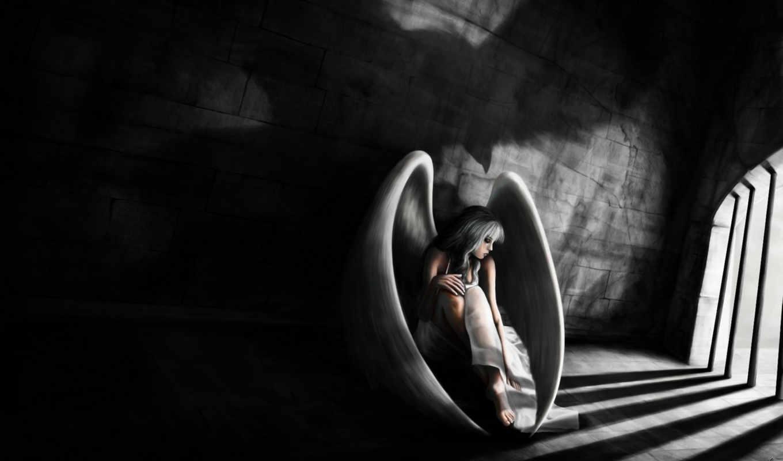 ангел, девушка, крылья, арт, решетки, stavrinides, loris,
