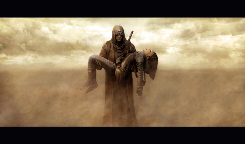 пост, apocalyptic, характер, cassiem, riyahd, zbrush, design, песок,