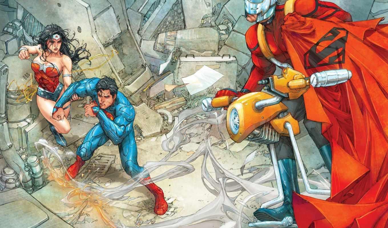 wonder, superman, new, женщина, comics,
