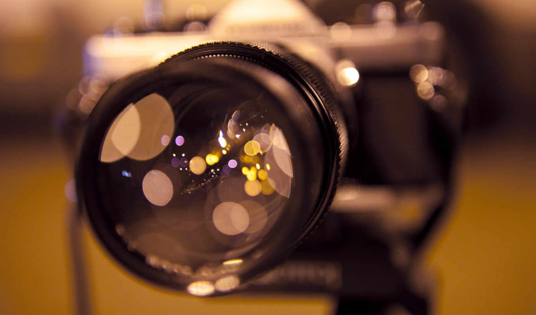 объектив, фотоаппарат, отражение, focus, блики, нов,