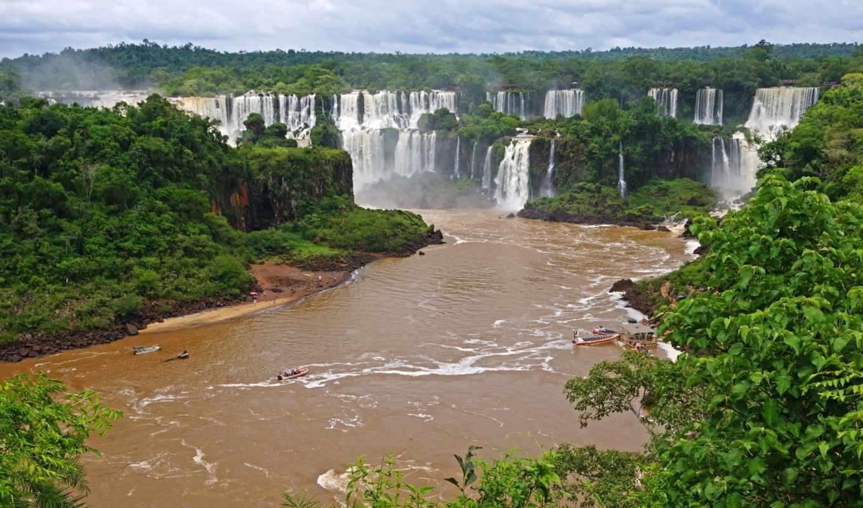 игуасу, brazilian, landscape, водопады, reki, природа, falls, картинка,