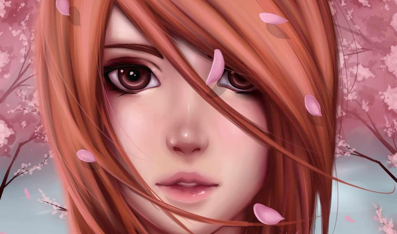 anime, анна, irene, девушек, devushki, арты, сакуры, лицо, картинка, sasuke,