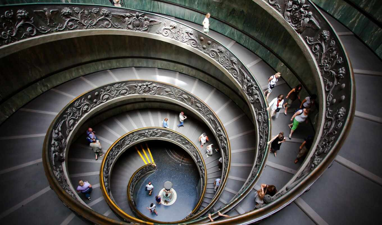 vatican, staircase, museum, bramante, spiral, thang, vàng, vaticano, trong, ди, khách