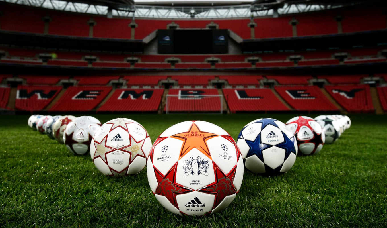 чемпионов, мячи, лига, газон, стадион, champions, ball, поле, лиги, футбол, картинка, uefa, final, ворота, трава, уэмбли, фокус,