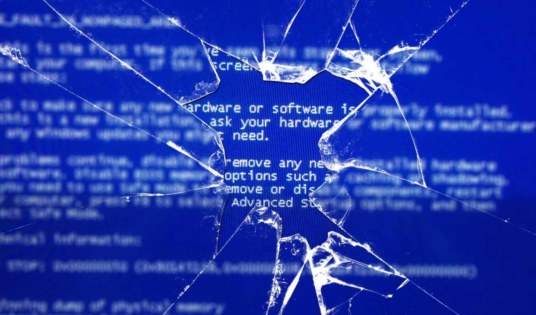 bsod, windows, glass, broken