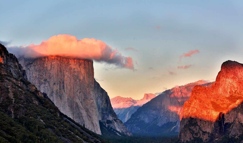 yosemite, долина, park, national, wide,