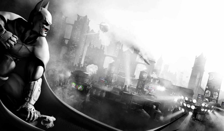 batman, arkham, city, игры, origins, widescreen,