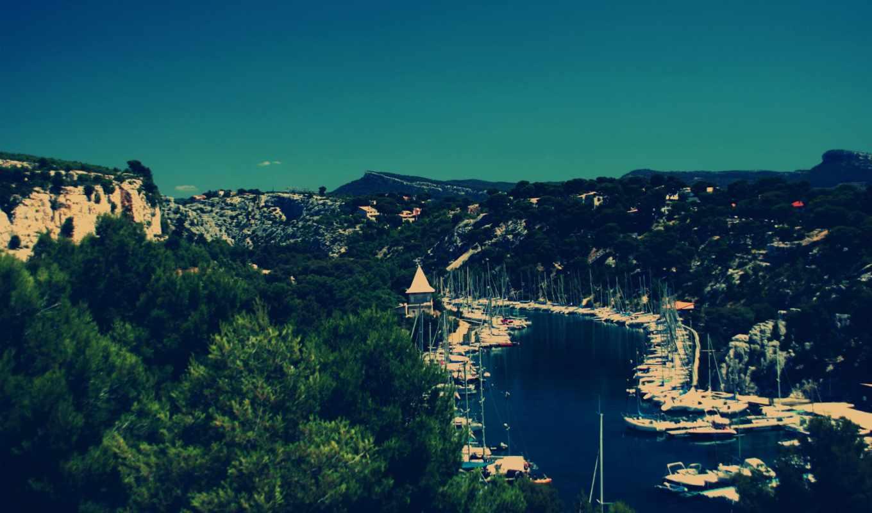 порт, calanque, miou, miniature, лодка, images, tilt, shift,