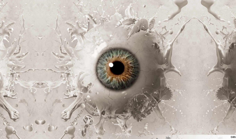 глаз, абстракция, арт, saw, liquid, eyeball, desktop, pictures,