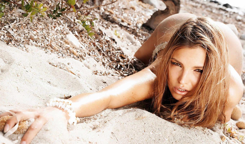 девушки, категория, совершенно, beach, берег, песок,