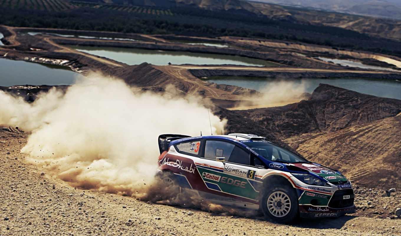 rally, спорт, разделе, пыль, ford, drift,