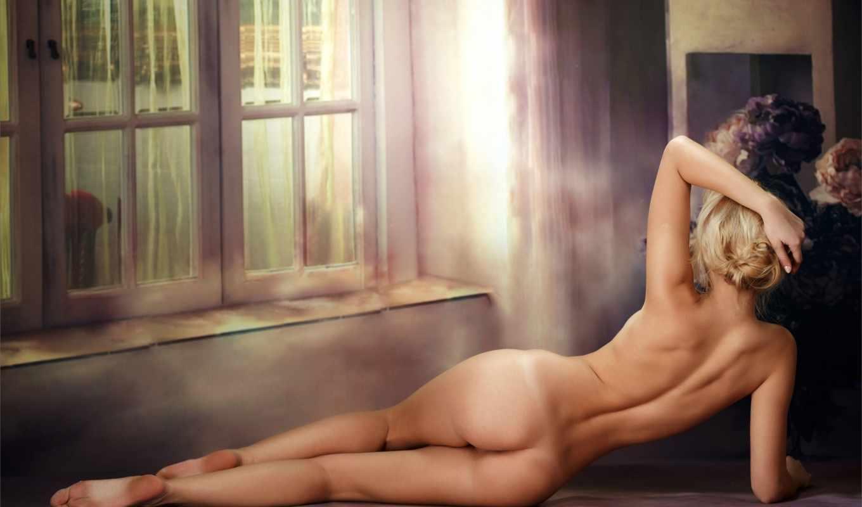 ,девушка,голая,с заду, лежит,эротика,