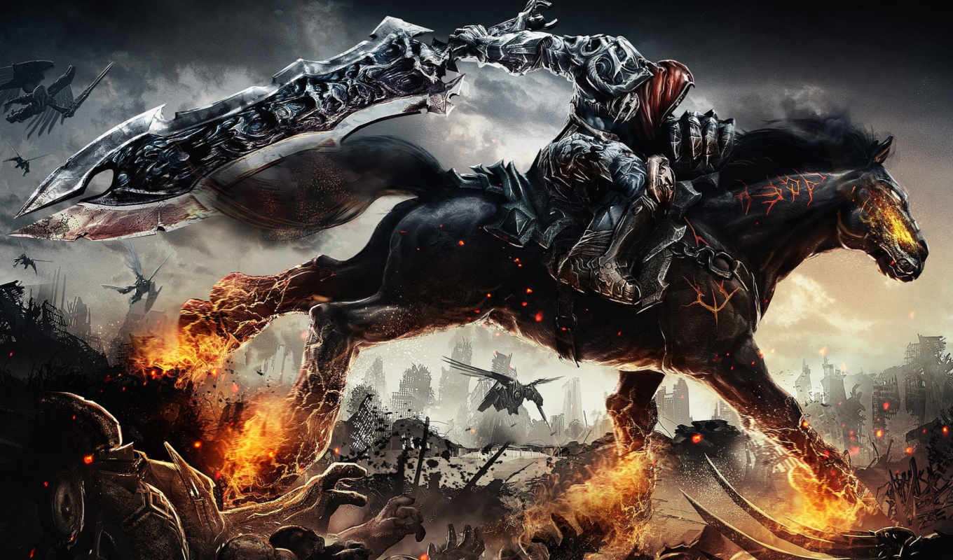 game, darksiders, video, games, resolution, war,