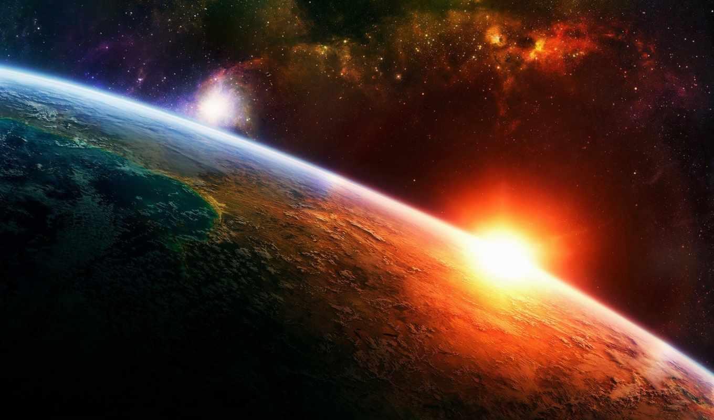 space, sunrise, звезды, планета, hintergrundbilder, gaia, свет, земля, картинка, download, солнце, der, weltraum, erde, sonnenaufgang, widescreen, sistema, chakras, ecran, fonds, mannyterrero, yeni, l