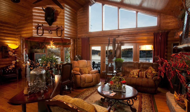 wooden, house, диван, кресла, интерьер,