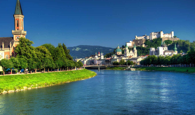 salzburg, австрии, австрия, город,