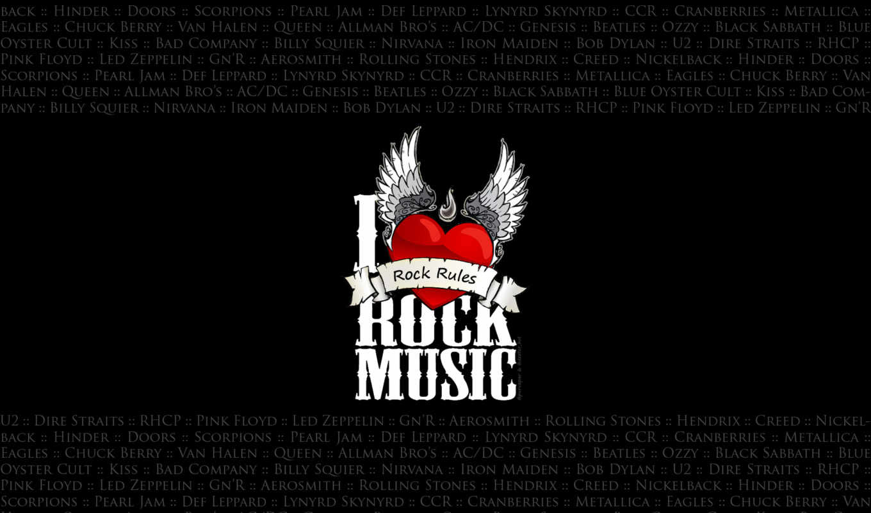 rock, музыка, сердце, крылья, black,
