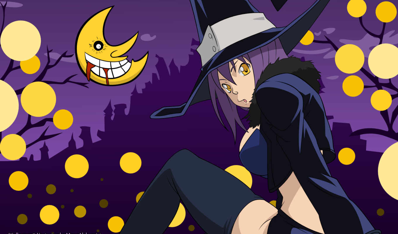 eater, soul, anime, blair, kağıdı, duvar, halloween, душ, moon,