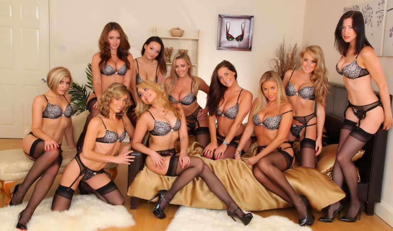 группа, девушки, девушек, толпа, июня, белье, много, ночь, брюнетки,