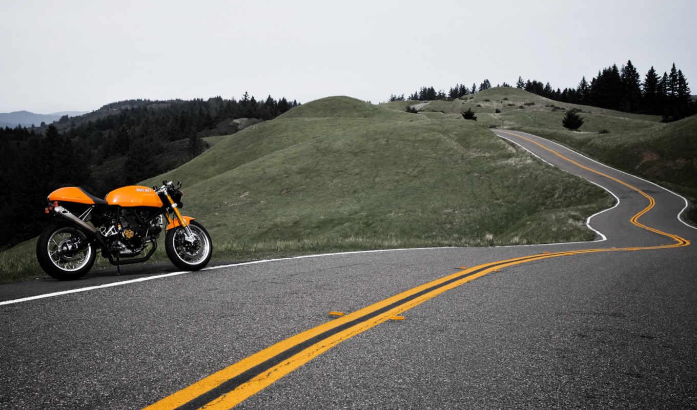 ducati, мотоцикл, дукати, машины, автомобили, дорога, авто, горы, мотоциклы,