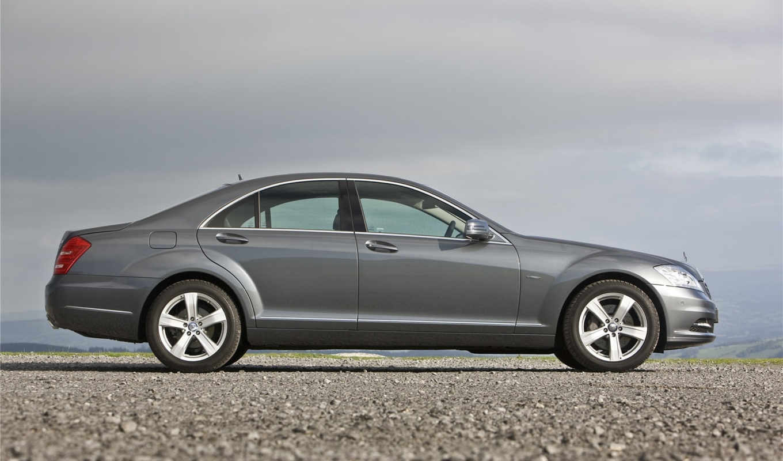 ,Mercedes, S class, среберянный,