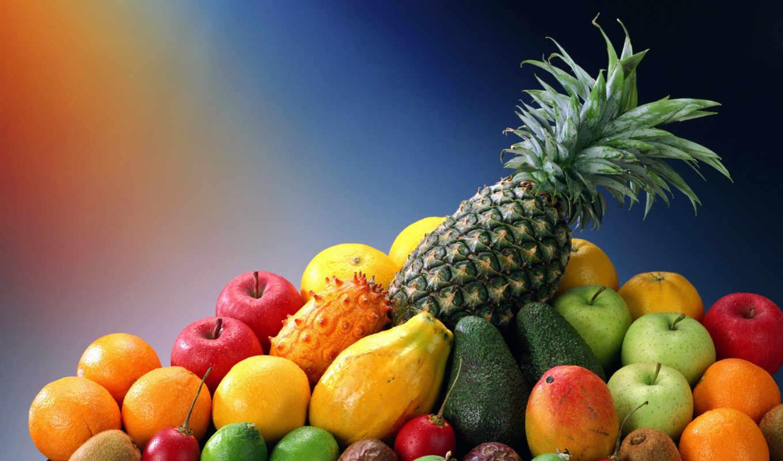 фрукты, pineapple, экзотические, лайм, lemon,