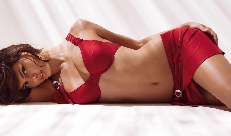 , лежит, девушка, девушек, boku, красное белье,