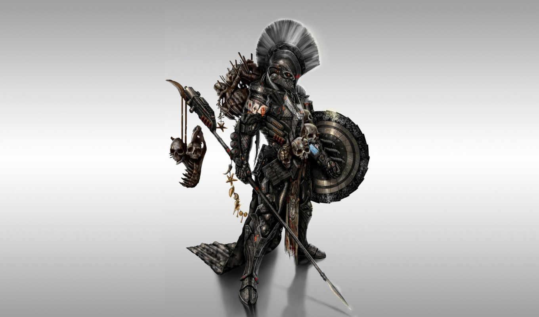 воин, доспех, оружие, щит, spear, спартанец, spartan,